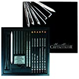 Cretacolor Black Box Charcoal Drawing Set of 20 - Wooden Box