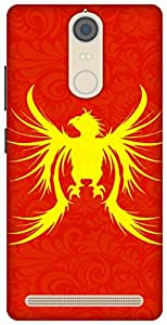 The Racoon Grip printed designer hard back mobile phone case cover for Lenovo K5 Note. (Phoenix)