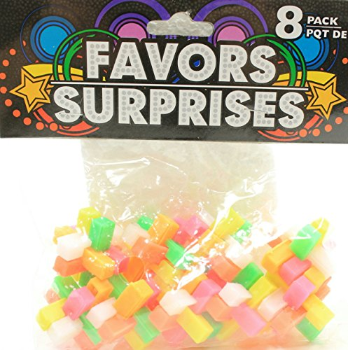 8 Count Colorful 3D Brainteaser Puzzle Party Favors (Pack of 2)