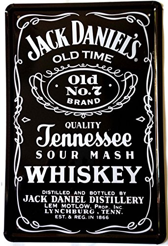 "Metal Tin Sign Wall Decor -Jack Daniel's OLD Time 12"" x 8"""