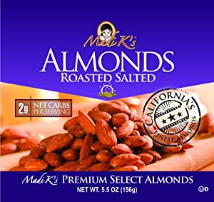 Madi Ks Roasted And Salted Almonds 55-ounce Pouches Pack Of 12 by Madi K's