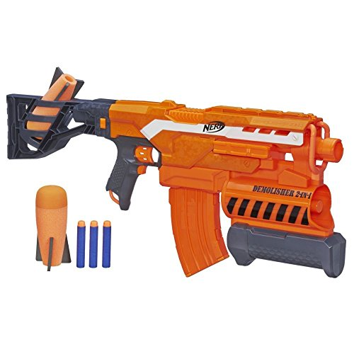 Nerf Elite - Lanzador Demolisher 2 en 1 (Hasbro A8494EU4)
