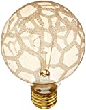 Bulbrite 40G25/MAR Crystal Collection Incandescent G25 Globe Light with Marble Finish and Medium Base, 40-watt, Amber