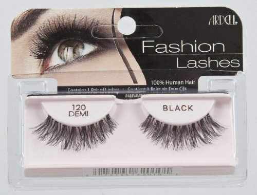 Ardell fashion lashes look so real, so natural that others think you were born with beautiful, lush eyelashes. made of 100% sterilized human hair, each lash strip is knotted and feathered by hand to achieve the highest quality. when used with ardell lashgrip eyelash adhesive, they are easy to apply, comfortable to wear, and stay secure until you take them off.