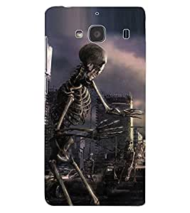 ColourCraft Skeleton Design Back Case Cover for XIAOMI REDMI 2S