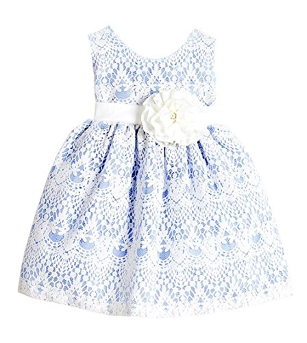 Sweet Kids Baby Girls' Sweet Vintage Lace Dress 6M Sm Light Blue (SK B437) (Baby Dress Light Blue compare prices)