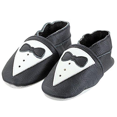 aroncent-minifeet-premio-scarpe-di-bambino-in-pelle-sinteticaimparare-a-camminarefondo-morbidonero