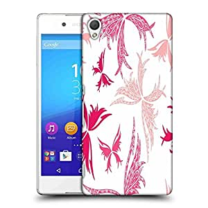 Snoogg Big Unique Butterfly White Pattern Designer Protective Phone Back Case Cover For HTC one A9