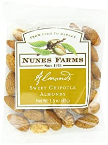 Nunes Farms Almonds, Sweet Chipotle, 1.5 Ounce (Pack of 72)