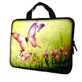 15.6 Laptop Sleeve Neoprene Case Bag with Hidden Handle handbag for 14 15 15.6 14 15 Notebook - B005UIBMN6