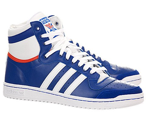 Adidas Top Ten Hi Blue White Mens Trainers 8.5 US