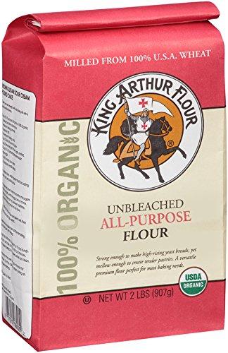 King Arthur Flour 100% Organic All-Purpose Flour, Unbleached, 2 Pound (Pack of 12) (King Arthur All Purpose Baking compare prices)