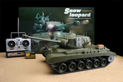 Airsoft Remote Control RC Snow Leopard Battle Tank