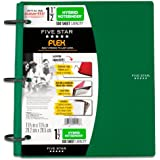 Five Star Flex Hybrid NoteBinder, 1.5-Inch Capacity, 11.5 x 11.25 Inches, Green (72401)