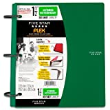 Five Star Flex Hybrid NoteBinder, 1.5-Inch, Green (72401)