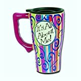 It's all about Me COFFEE cup TRAVEL Mug ART decor NEW