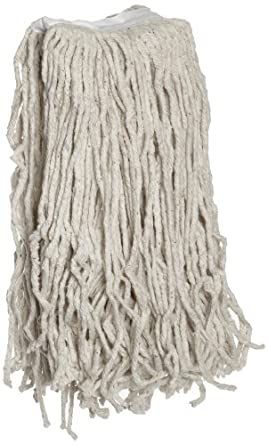 Boardwalk CM20024 Mop Head, Cotton, Cut-End, White, 4-Ply, 24 oz (Case of 12)