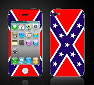 iPhone 4 4S Vinyl Skin Kit -Rebel Flag. Confederate flag. Dukes of Hazzard. Southern Pride from itsaskin