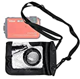 DURAGADGET Compact Camera Case in Black for Nikon Coolpix AW100, L23, P300, P310, S100, S2500, S2550, S2600, S3200, S4150, S6100, S6150, S6200, S6300, S80, S8100, S9100, S9200, S9300 & S800 - Premium Quality, Water-Resistant Pouch with Zoom Lens Compartm