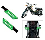 Capeshoppers Parallelo LED Bike Indicator Set Of 2 For TVS SUPER XL S/S - Green