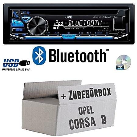 Opel Corsa B - JVC KD-R871BT - Bluetooth CD/MP3/USB Autoradio - Einbauset