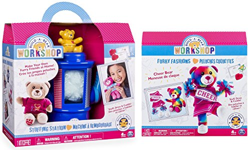 Build-A-Bear Workshop Stuffing Station and Furry Fashions Cheer Bear Refill Pack 2 Piece Bundle (Build A Bear Bundle compare prices)