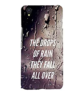 Vizagbeats Rain Drops All Over Back Case Cover for ONEPLUS X