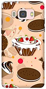 The Racoon Grip printed designer hard back mobile phone case cover for Samsung Galaxy J5 (2016). (Beige Cake)