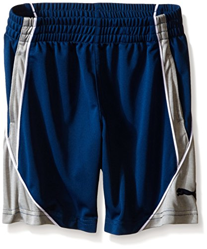 PUMA Little Boys' Color Blocked Short, Poseidon, 6