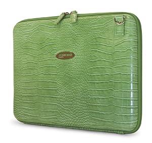 Mobile Edge Faux Croc Portfolio- 14.1-Inch PC/15-Inch MacBook Pro (Green)