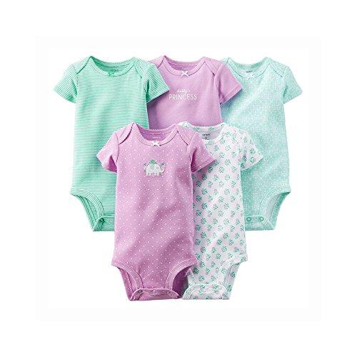 Carter's Baby Girls' 5 Pack Bodysuits (Baby) - Purple - 24M