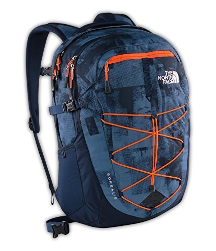 the-north-face-borealis-backpack-cool-blue-texture-block-print-shocking-orange-size-one-size-by-the-