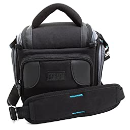 Durable Action Video Camera Bag with Carrying Strap by USA Gear - Works With GoPro HD HERO4 Session , HERO4 , HERO3+ , HERO2 Professional and More