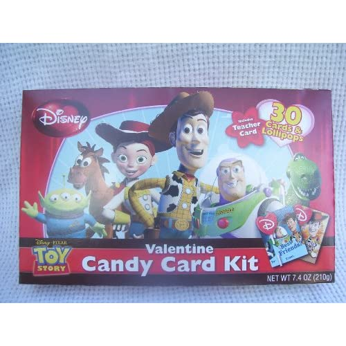 Amazon.com : Toy Story Valentine Candy Card Kit 30 Cards & Lollipops