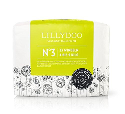 LILLYDOO Windeln - Monatsbox (Größe 3, 4-9kg, 198 Windeln, Design: Lilly D)
