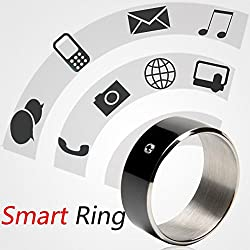 Mobilegear Multifunctional Smart NFC Ring for NFC Enabled Android & Windows Smartphones - Size 10 Black
