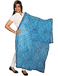 Heartly Premium Soft Fashion Pure Solid Cotton Dupatta - Aqua Blue
