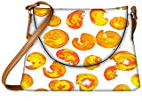 Snoogg Yellow Abstract Paint Designer Womens Carry Around Sling Bags