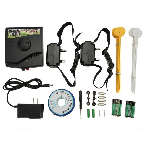 Muchbuy Underground Waterproof 2 Shock Collar Electric Dog Fence Fencing System New