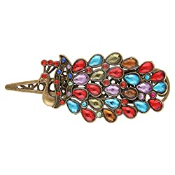 Multicolour Royal Peacock Hair Pin Hair Clip 19 Likes Hair JewelleryALHP0181ML