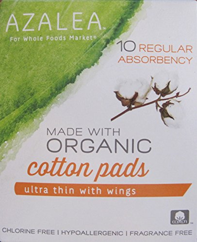 azalea-regular-ultra-thin-cotton-pads-with-wings-made-with-organic-cotton-10-count