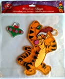 Disney WINNIE THE POOH Window Cling Christmas Decoration TIGGER (6 3/4 Inches Tall)