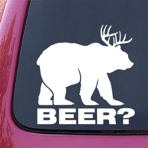 Bear + Deer = BEER? funny decal / sticker