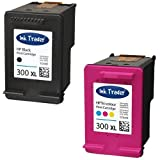 HP 300XL (High Capacity) Remanufactured Black & Tri-Colour Printer Ink Cartridges For use with HP Envy 100 D410a 110 eAIO 120 eAIO Printers by Ink Trader