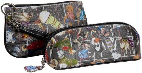 Sydney Love Diva Dogs Wristlet and Cosmetic Bag Set