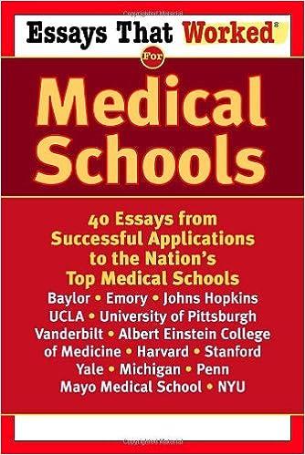 secondary application essay medical school