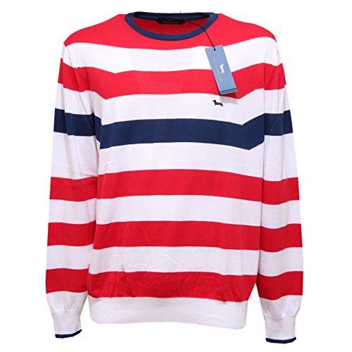 2080Q maglione uomo HARMONT & BLAINE rosso/bianco/blu sweater men [XXL]