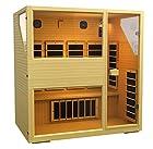 JNH Lifestyles NE4HB1 ENSI Collection 4 Person NO EMF Infrared Sauna Limited Lifetime Warranty