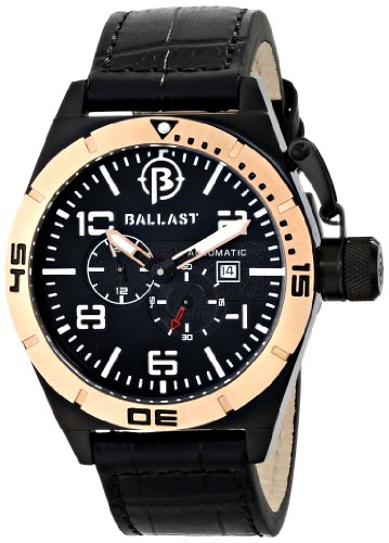 Ballast Men's BL-3130-05 Amphion Analog Display Japanese Automatic Black Watch