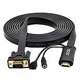 tendak-Adapterkabel-fr-Full-HD-HDMI-zu-VGA-Video-Adapterkabel-Plug-und-Play-Adapter-mit-35-mm-Audio-Ausgang-fr-Laptop-PC-Projektor-HDTV-DVD-STB-Player-Kamera-Untersttzt-Auflsungen-von-bis-zu-1920-x-10